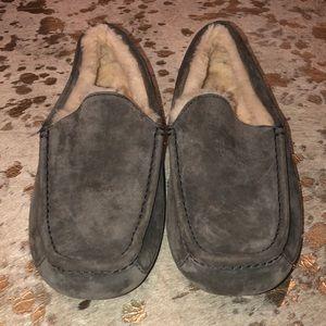 Men's Grey Suede Ugg Slippers
